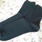 シルクふぁみりぃさんの絹コットン先丸靴下買ってみた